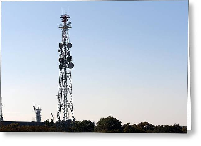 Cellular Greeting Cards - Cellular tower. Greeting Card by Fernando Barozza