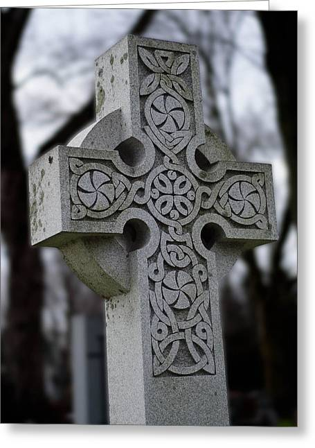 Celtic Cross 10194 Greeting Card by Guy Whiteley