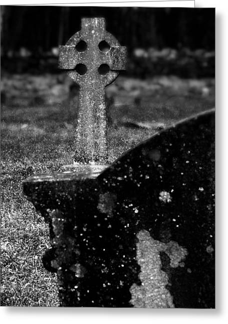 Celtic Cross 3 Greeting Card by Brainwave Pictures