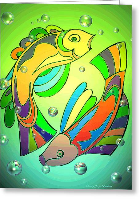 Best Ocean Photography Greeting Cards - Celtic Fish  4 Greeting Card by Joyce Dickens