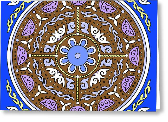 Kim Drawings Greeting Cards - Celtic Mandala Winter Greeting Card by Kim Victoria