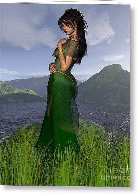Celtic Princess Greeting Card by Fairy Fantasies