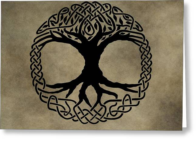Tattoo Culture Greeting Cards - Celtic Tree Of Life Greeting Card by Dan Sproul