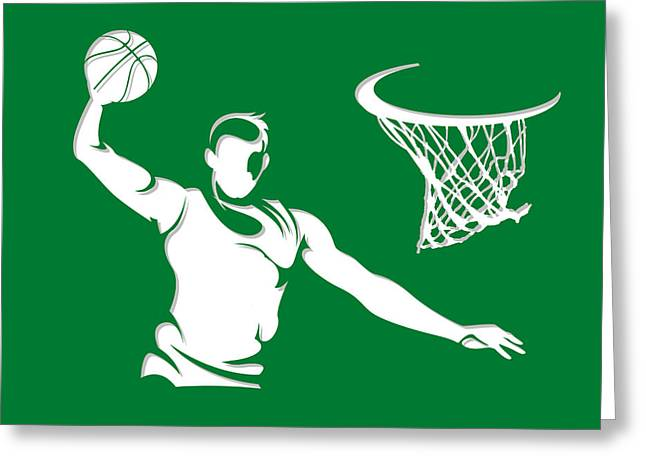 Celtics Basketball Greeting Cards - Celtics Shadow Player1 Greeting Card by Joe Hamilton