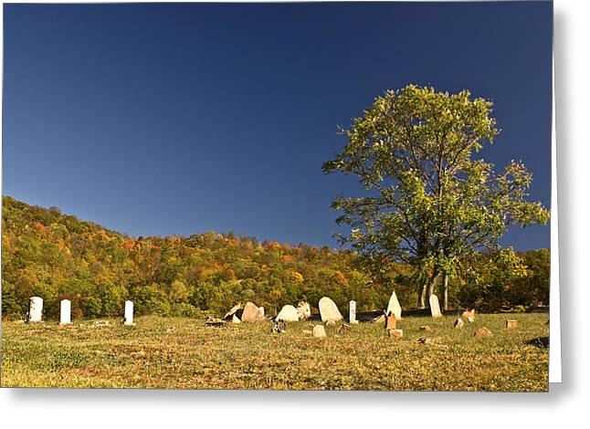 Woe Greeting Cards - Cemetary North of Monterey Tennessee Greeting Card by Douglas Barnett
