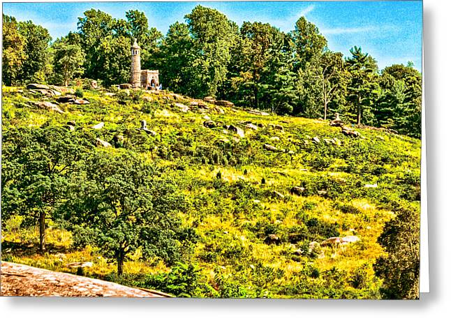 Confederate Monument Greeting Cards - Cemetary Ridge Gettysburg Battleground Greeting Card by  Bob and Nadine Johnston