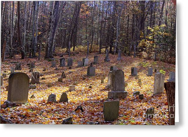 Kansas City Photographer Greeting Cards - Cemetery 1 Greeting Card by Crystal Nederman