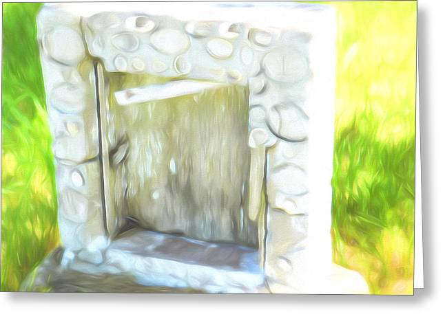 Headstones Digital Art Greeting Cards - Cemetery Art Greeting Card by Cathy Anderson