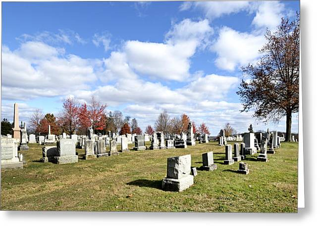 Civil War Site Photographs Greeting Cards - Cemetery at Gettysburg National Battlefield Greeting Card by Brendan Reals