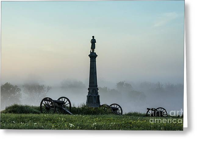 Confederate Monument Greeting Cards - Cemetery Hill Gettysburg  Greeting Card by John Greim