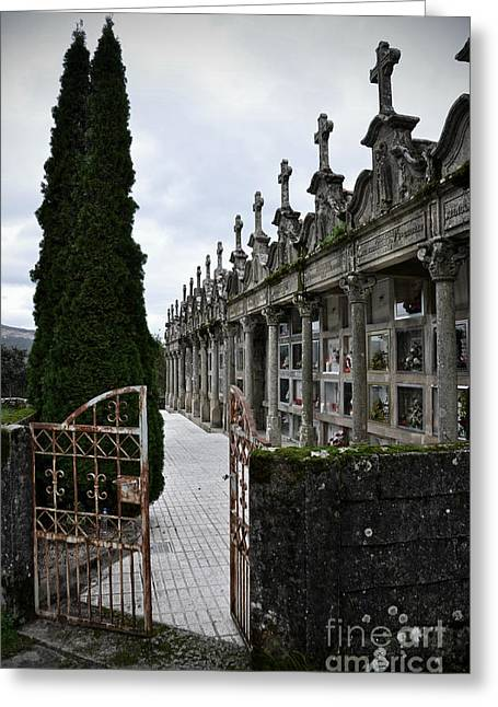 Souls Greeting Cards - Cemetery in a small village in Galicia Greeting Card by  RicardMN Photography