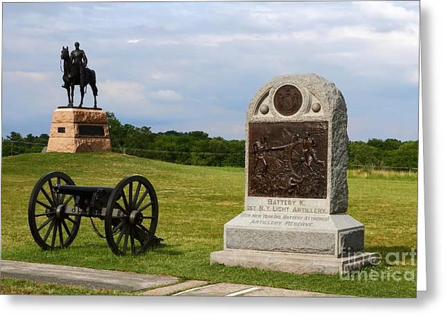 Civil War Battle Site Greeting Cards - Cemetery Ridge Gettysburg Greeting Card by James Brunker