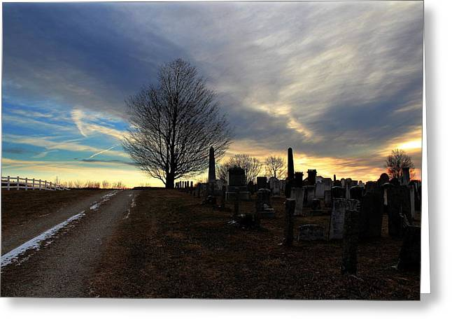 Hebron Greeting Cards - Cemetery Road Greeting Card by Andrea Galiffi
