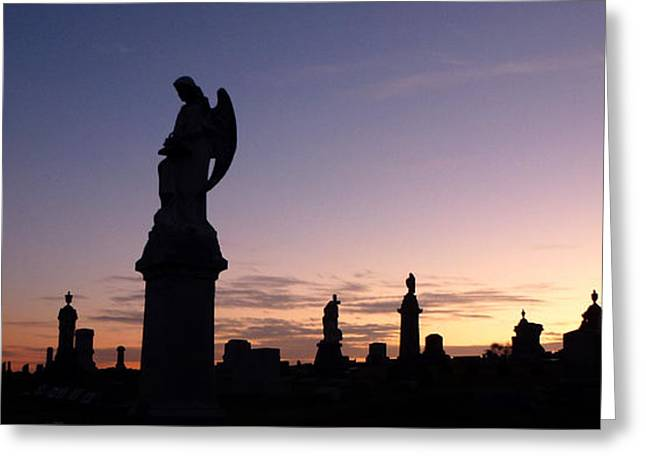 Indiana Autumn Greeting Cards - Cemetery Sunset Greeting Card by Ami Clayton
