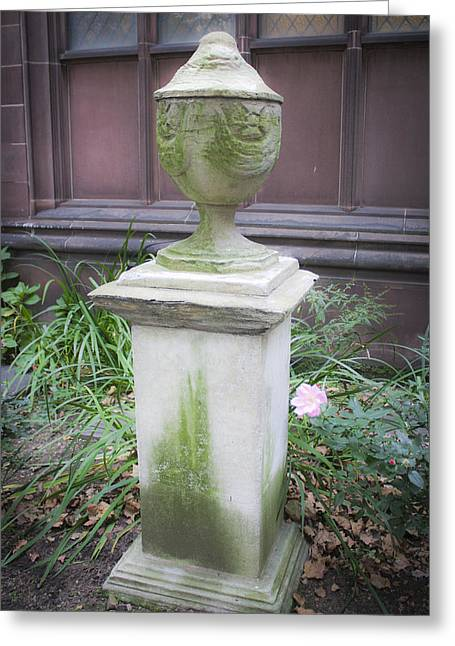 Occupy Greeting Cards - Cemetery Urn 2 Greeting Card by Teresa Mucha