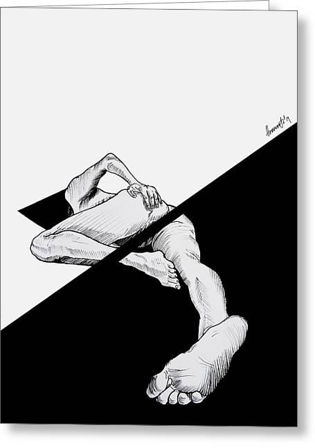 Censored Greeting Cards - Censored thoughts Greeting Card by Antonina Georgieva