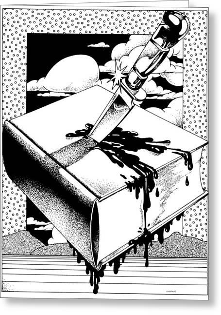 Censorship Digital Art Greeting Cards - Censorship Greeting Card by David Chestnutt
