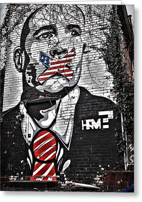 Censorship Digital Art Greeting Cards - Censorship Expressed Mural Greeting Card by Brian Archer