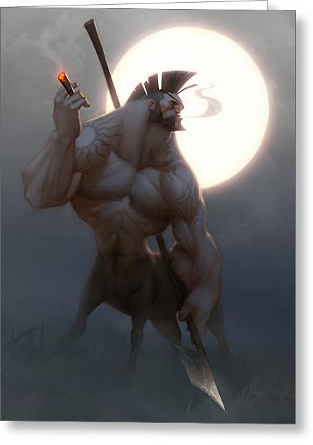 Extinct And Mythical Digital Art Greeting Cards - Centaur Greeting Card by Adam Ford