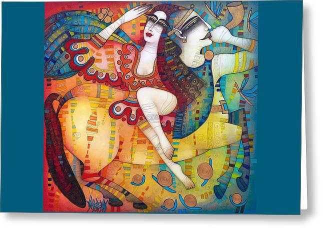 Centaur Greeting Cards - Centaur in love Greeting Card by Albena Vatcheva