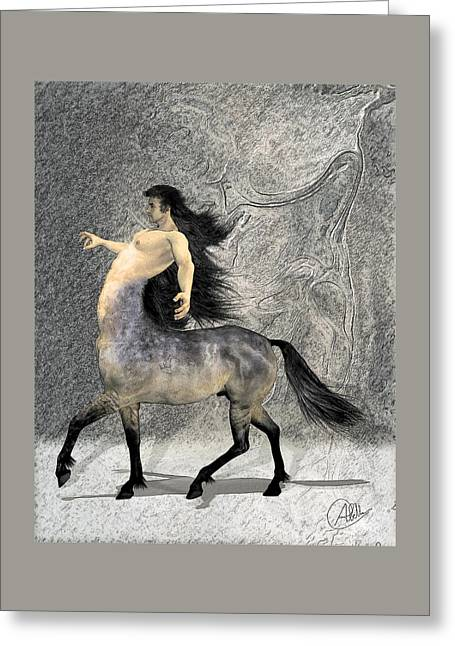 Spiritual Animal Greeting Cards - Centaur Greeting Card by Quim Abella