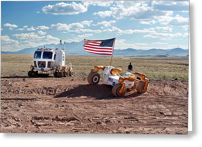 Centaur Robonaut Rover Testing Greeting Card by Nasa-johnson Space Center