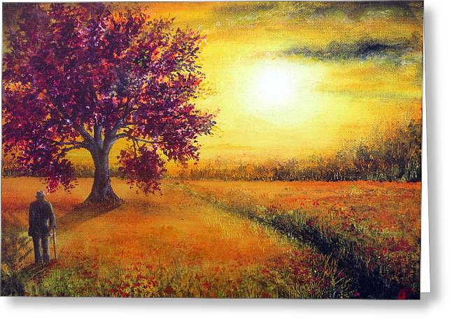 Kinkade Greeting Cards - At the Going Down of the Sun Greeting Card by Ann Marie Bone