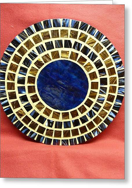 Circles Glass Art Greeting Cards - Center - circle Greeting Card by Fabiola Rodriguez