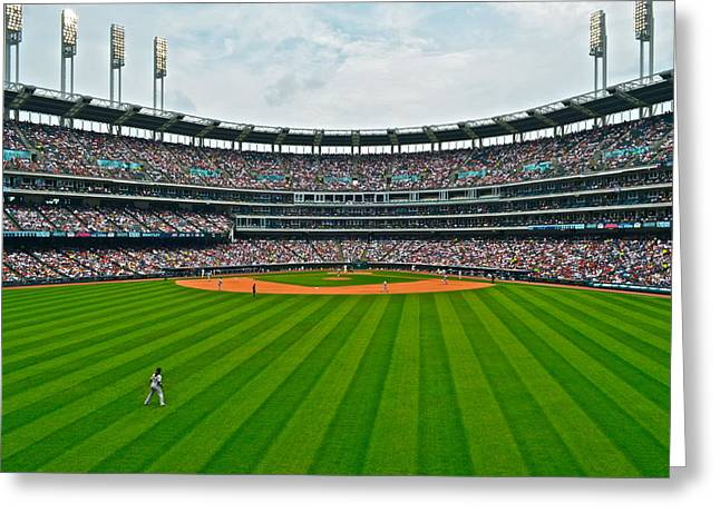 Spitball Greeting Cards - Center Field Greeting Card by Frozen in Time Fine Art Photography