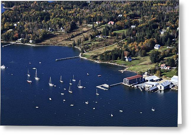 Maine Landscape Greeting Cards - Center Harbor, Brooklin, Maine Greeting Card by Dave Cleaveland