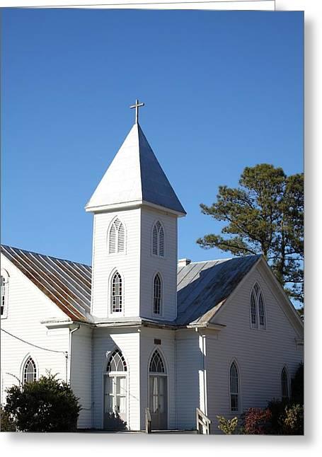 Center Hill United Methodist Church Greeting Card by Carolyn Ricks