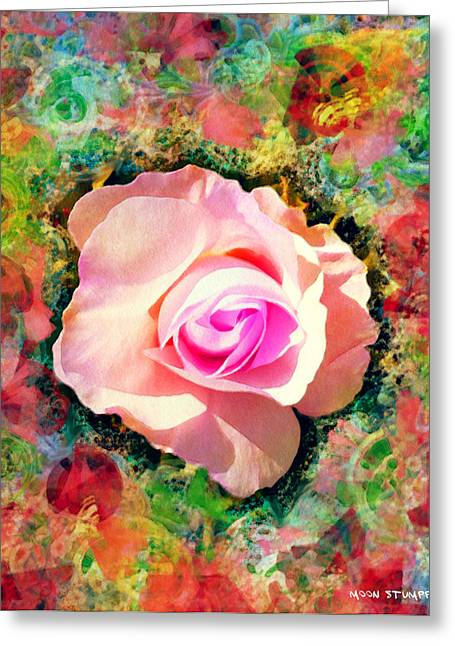 Textured Floral Greeting Cards - Center of Attention Greeting Card by Moon Stumpp