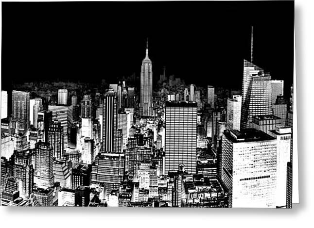 Empire State Building Greeting Cards - Center Of The Universe Greeting Card by Az Jackson
