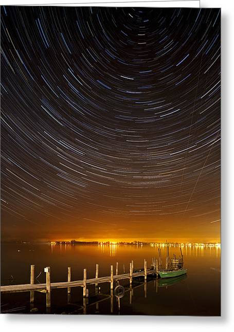Longtime Exposure Greeting Cards - Center of the universe Greeting Card by Holger Spiering