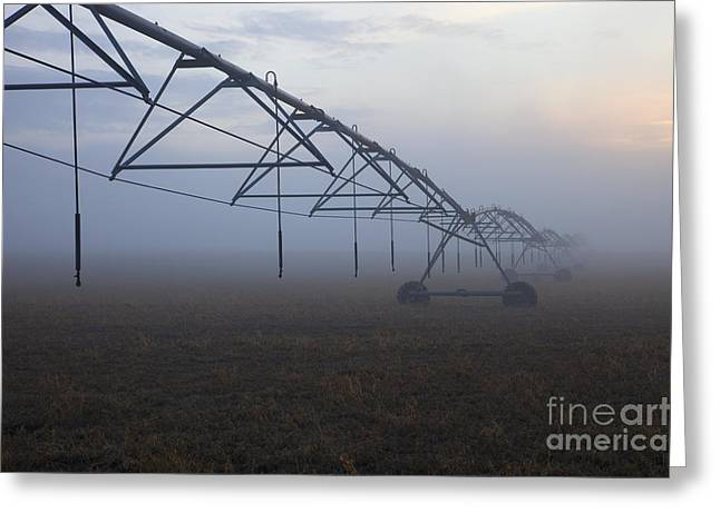 Center Field Greeting Cards - Center-Pivot Irrigation Greeting Card by Mike  Dawson