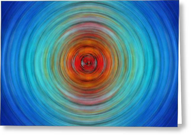 Light Aqua Greeting Cards - Center Point - Abstract Art By Sharon Cummings Greeting Card by Sharon Cummings