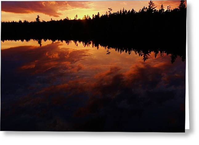 Nature Center Pond Greeting Cards - Center Pond Baxter State Park Greeting Card by Tim  Canwell