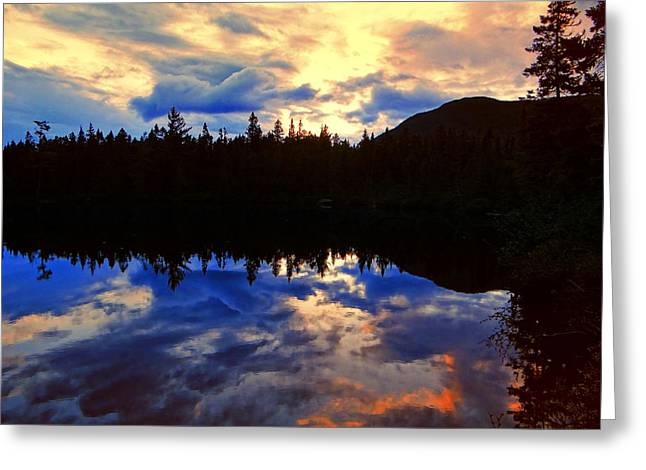 Center Pond Greeting Card by Tim  Canwell