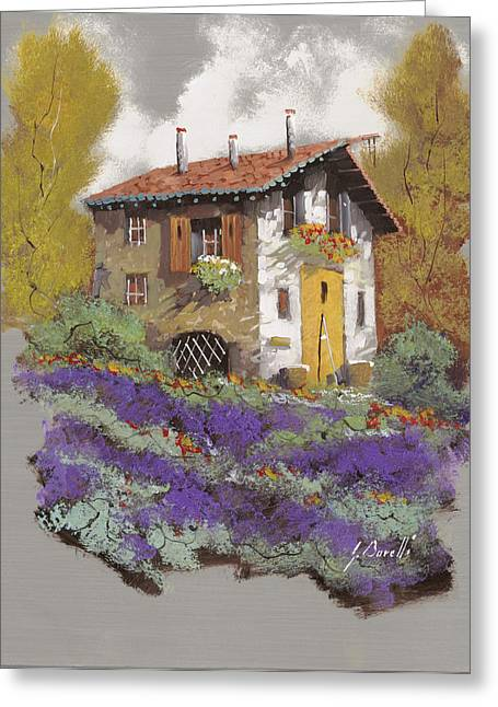 Old Houses Greeting Cards - Cento Lavande Greeting Card by Guido Borelli