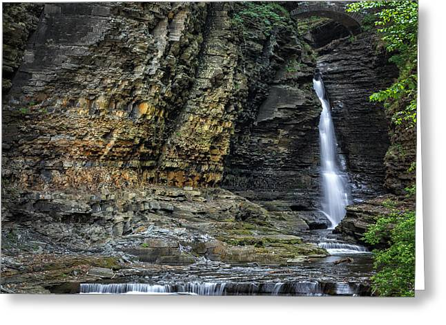 Seneca Valley Greeting Cards - Central Cascade Greeting Card by Bill  Wakeley