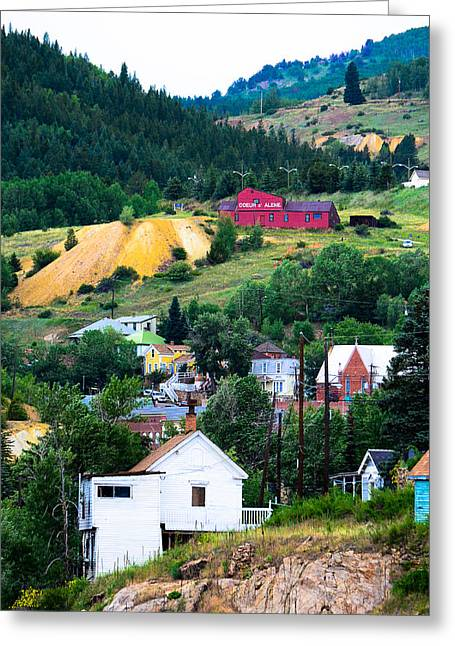 Mining Photos Greeting Cards - Central City Coeur dAlene Mine Greeting Card by Jeff Black