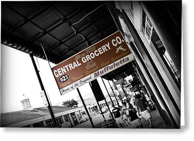 Italian Restaurant Greeting Cards - Central Grocery Greeting Card by Scott Pellegrin