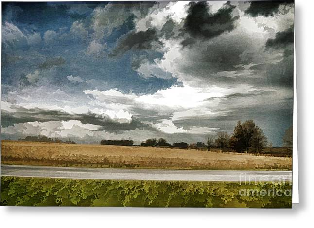 Central Illinois Greeting Cards - Midwest - Central Illinois Tornados - Luther Fine Art Greeting Card by Luther   Fine Art
