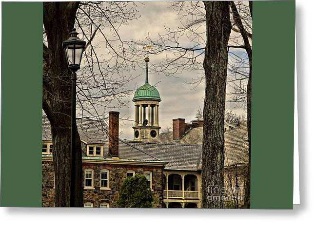 Moravian Greeting Cards - Central Moravian Church - Bethlehem Greeting Card by DJ Florek