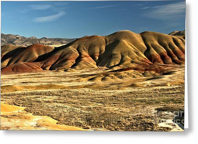 Surreal Landscape Greeting Cards - Central Oregon Painted Hills Greeting Card by Adam Jewell
