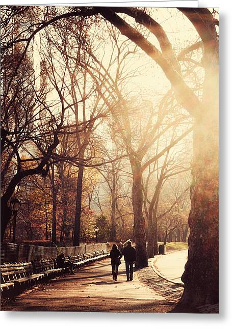 Emmanouil Greeting Cards - Central Park Afternoon Greeting Card by Emmanouil Klimis