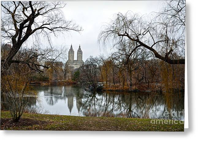 Hayworth Greeting Cards - Central Park and San Remo building in the background Greeting Card by RicardMN Photography