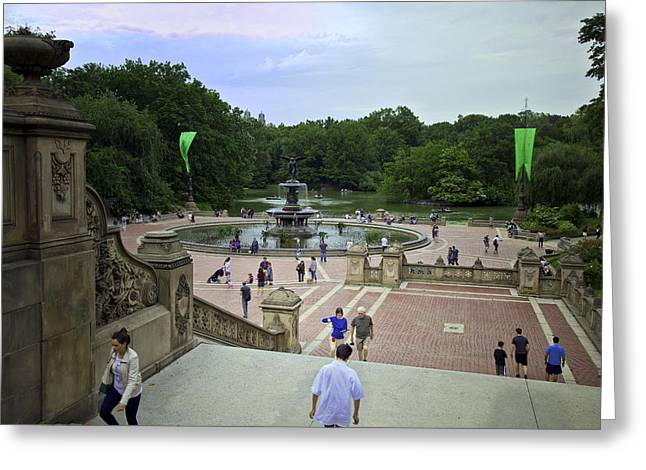Bethesda Fountain Greeting Cards - Central Park - Bethesda Fountain Greeting Card by Madeline Ellis