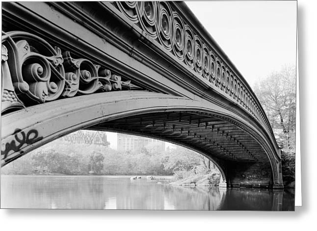 Times Square Digital Art Greeting Cards - Central Park Bow Bridge Greeting Card by Digital Reproductions