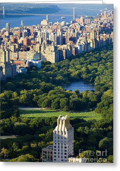 Central Park West Greeting Cards - Central Park Greeting Card by Brian Jannsen